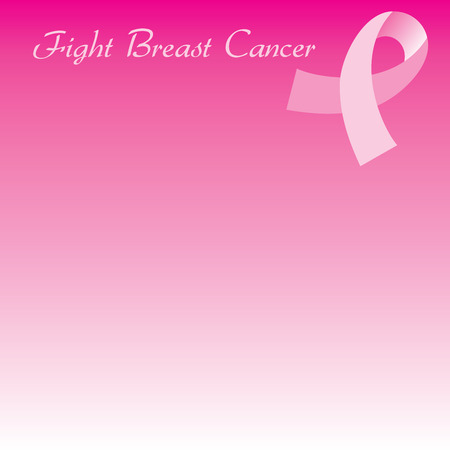 Illustration for Breast Cancer awareness month. Background can be used for web or print. Cards, template, background, brochure, poster, flyer, flier, etc. Used Gabrielle font. Vector
