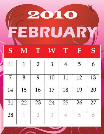 Illustration of 2010 Calendar Illustration