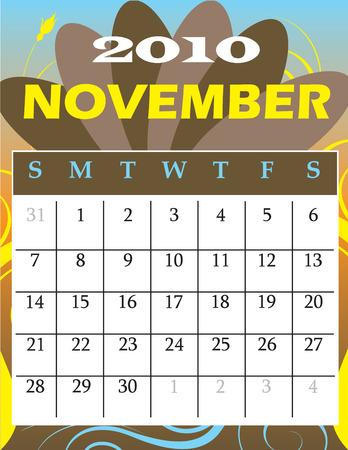 calandar: Illustration of 2010 Calendar Illustration