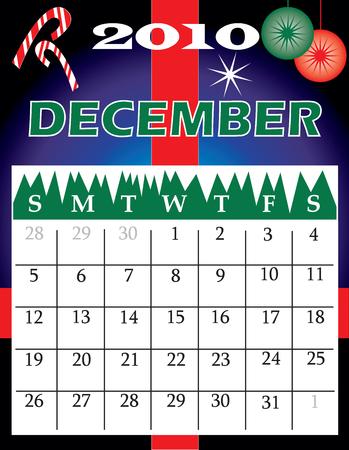 Illustration of 2010 Calendar Ilustrace
