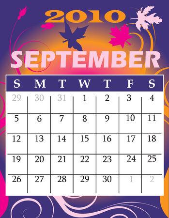 Illustration of 2010 Calendar Stock Vector - 5716944