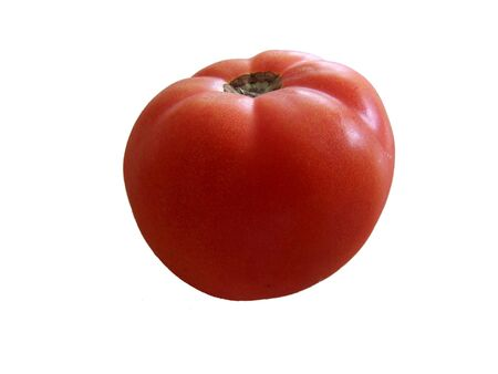 ripe: Red ripe tomato isolated Stock Photo