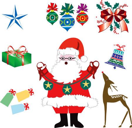 saint nick: Secondo gruppo di otto Natale o icone Holiday. Illustrazione vettoriale.