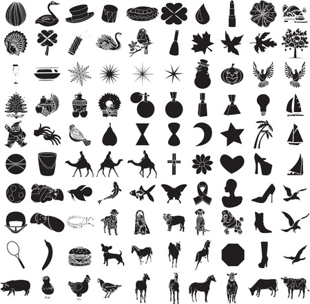 100 Icon Set 2 Vector