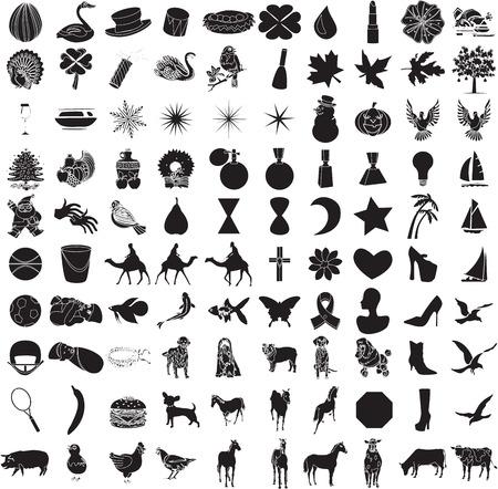 caballo bebe: 100 Icono conjunto 2