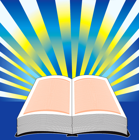 Heilige Bijbel, illustratie van de Bijbel met macht.