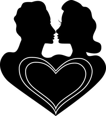 mariage mixte: Vecteur Valentine ic�ne Love Logo �galement disponible avec le format texte.
