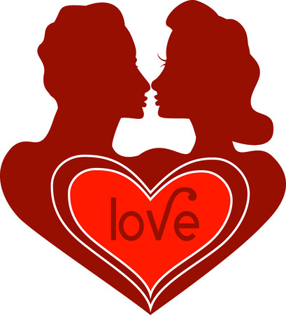 Vector Valentine Icon Love Logo with Text.