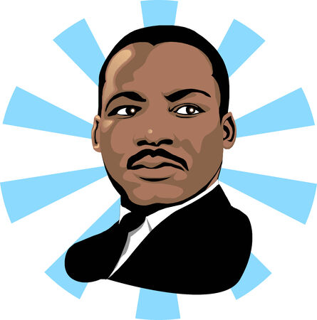 Vector for Martin Luther King Day or Black history month. Çizim