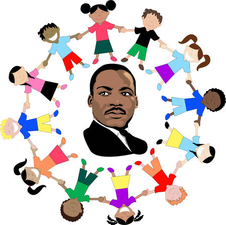 dr: Vector Dr. Martin Luther King Jr. dream came true. Illustration