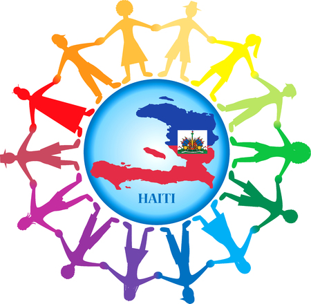 People all around the world helping Haiti after the Earthquake in Port-Au-Prince, Haiti on Tuesday January 12, 2010.. Stock Vector - 6243680