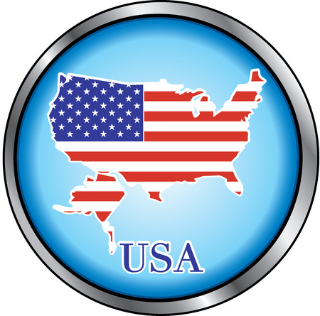 Illustration for USA, Round Button. Used Didot font.