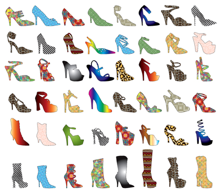 48 patterned shoes. Shoe Silhouettes 3.