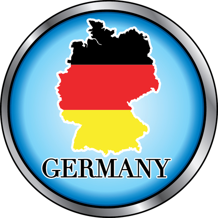 Illustration for Germany, Round Button. Used Didot font. Ilustrace