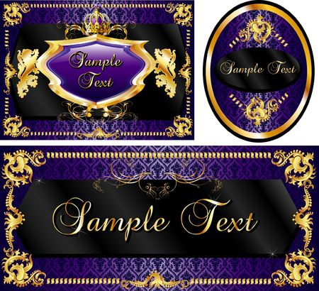 luxurious: Vector Illustration of banner, poster or card templates.