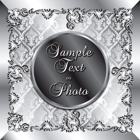 Vector Illustration of fancy background template. Can be used for weddings, parties and more. Template design, can insert text or photo. illustration