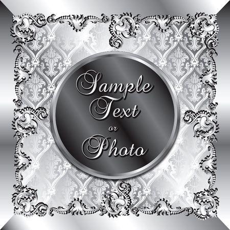 Vektor-Abbildung der ansprechenden Hintergrund-Vorlage. Kann für Hochzeiten, Parteien und mehr verwendet werden. Vorlagenentwurf, können Text oder Foto einfügen. Standard-Bild - 6836746