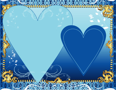 A template background for greeting card or invitation. Vector