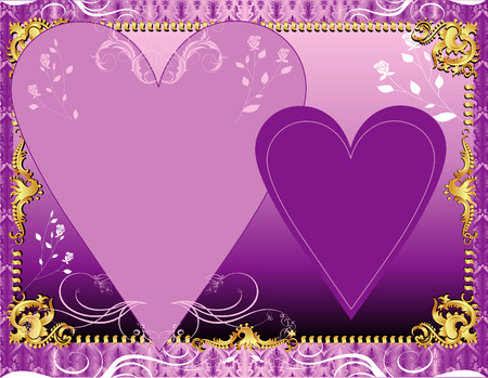 Illustration. A template background for greeting card or invitation. May add photo andor text. Vector