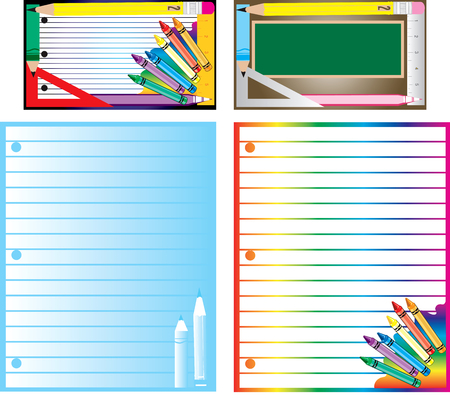educational business cards, template and letterheads for school or teaching.