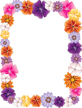 illustration d'une bordure de fleurs. Vecteurs