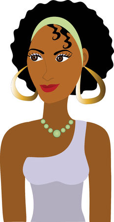 Afro Girl Avatar. See others in this series.  イラスト・ベクター素材