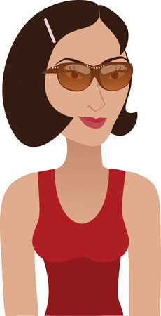 supermodel: Brunette with sunglasses Avatar. See others in this series.