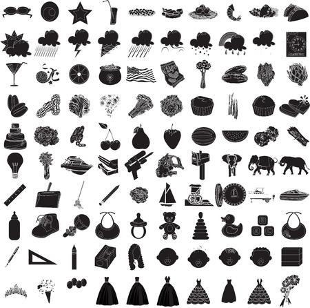 Ilustraciones de 100 Icon Set 3