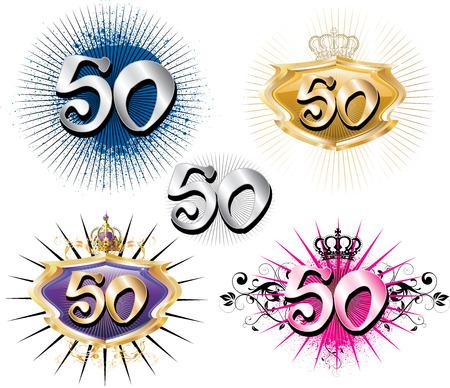 fiesta familiar: Ilustraci�n para especiales cumplea�os aniversarios y ocasiones. Ideal para la camiseta o tarjetas.  Vectores