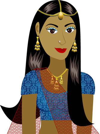 indian blue: Indian Girl Avatar. See others in this series. Illustration