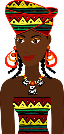 afro: African Girl Avatar. See others in this series.