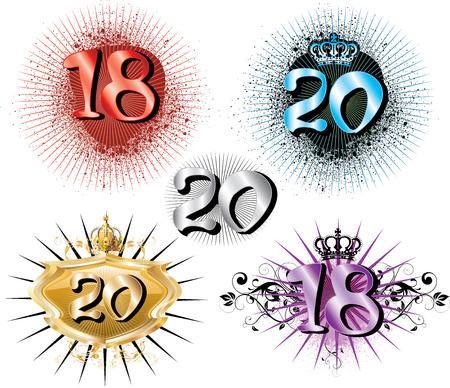 Ilustración para especiales cumpleaños aniversarios y ocasiones. Ideal para la camiseta o tarjetas.  Foto de archivo - 7497241