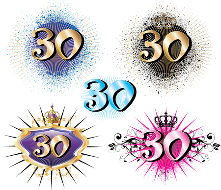 Illustration for Special Birthdays Anniversaries and Occasions. Great for t-shirt or cards. Stock Vector - 7497232