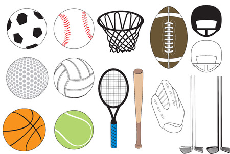 15 sports icons Stock Vector - 7588823