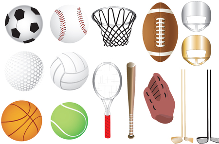 15 sports icons Vector