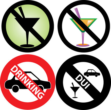 dwi: four No Alcohol or drinking while driving Signs. See my others in this series.