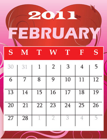 Illustration of 2011 Calendar   Stock Vector - 7846235
