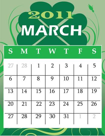 calandar:  Illustration of 2011 Calendar