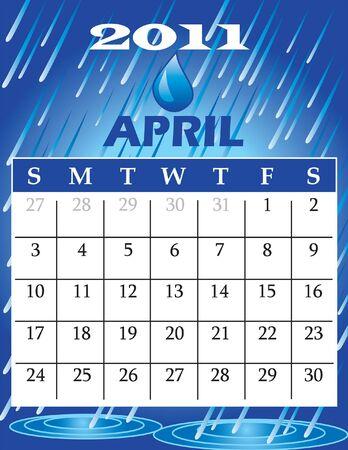 Illustration of 2011 Calendar