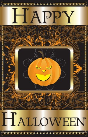 Illustration of a Happy Halloween Poster. Stock Vector - 7879174