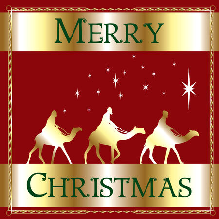 a Merry Christmas Wisemen. Vettoriali