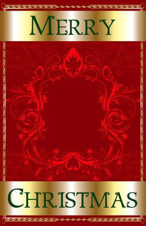Merry Christmas Red Blank. Stock Vector - 7976838