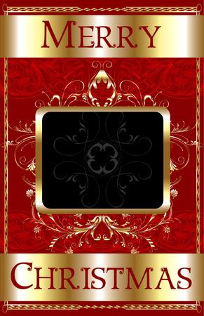 Cartel de plantilla de feliz Navidad.  Foto de archivo - 7976849