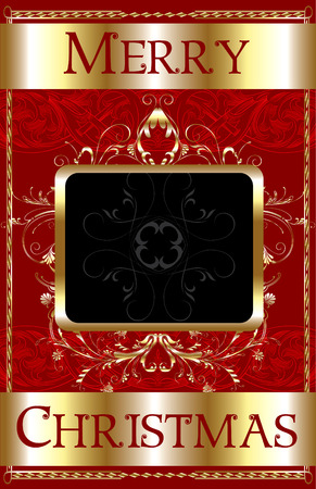 christmas template: Merry Christmas modello poster.  Vettoriali