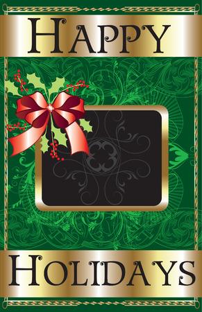 Happy Holidays Ribbon Poster. Stock Vector - 7976851
