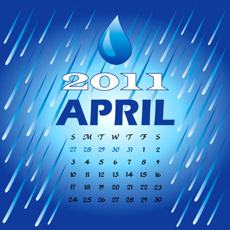 Illustration of 2011 Calendar Stock Illustration - 8128833