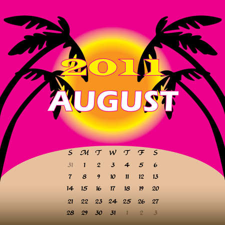 Illustration of 2011 Calendar Stock Illustration - 8128830