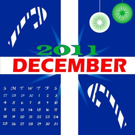 Illustration of 2011 Calendar Stock Photo