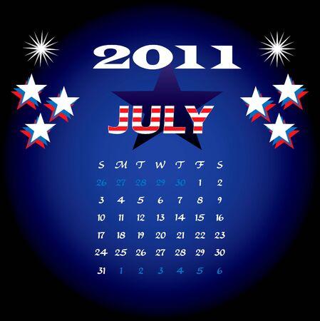 Illustration of 2011 Calendar illustration