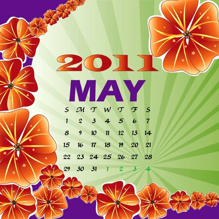Illustration of 2011 Calendar Stock Illustration - 8128842